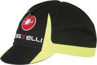 Castelli Free Cycling Cap Black/Yellow Fluo
