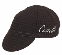 Castelli Wool Cycling Cap Brown Plaid