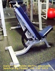 Adjustable Flat-Incline-Decline bench by Icarian (used)