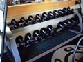 Dumbbell Setby Intek-Rubber w/ Icarian rack