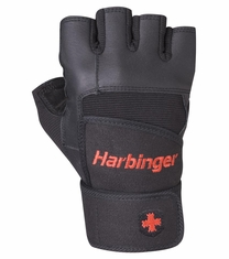 Harbinger Men's Pro WristWrap™ Weight Lifting Gloves