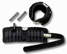 TKO Adjustable Pair Wrist/Ankle Weights (5 lb Total)
