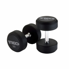 TKO SDS Rubber Dumbbells - 55-100 LB Set