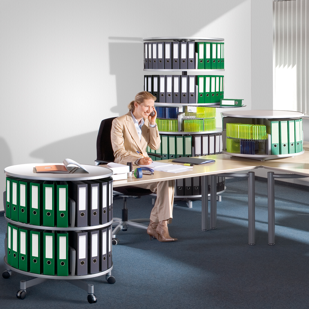 6 Tier Binder Carousel Shelving