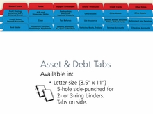 Asset and Debt Index Tabs