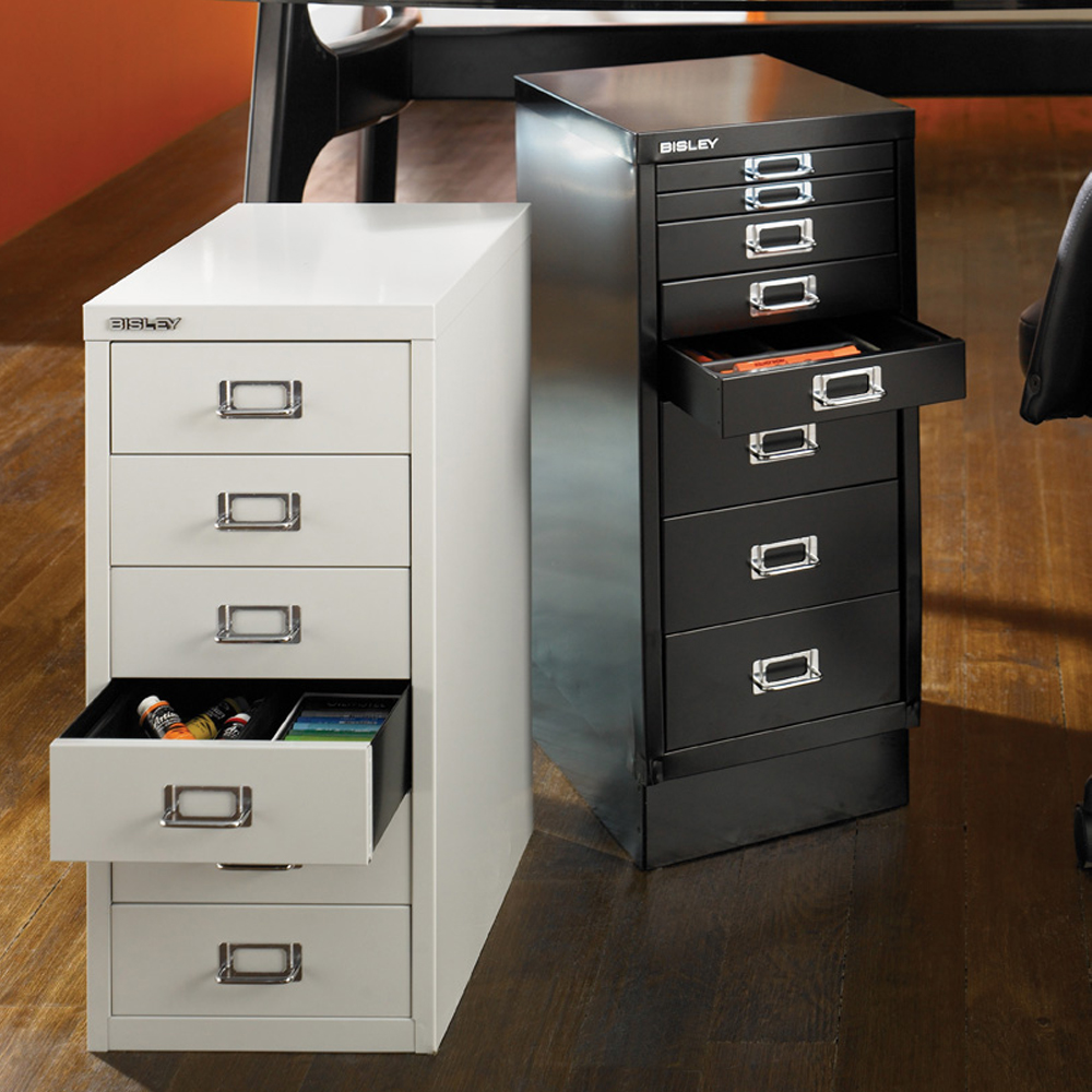 Desk Cabinet: Bisley 6-Drawer Under Desk Multidrawer Cabinet