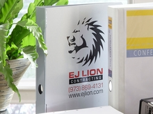 Custom Metal Binders, Silkscreened to Your Specifications