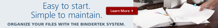 Simplify your file management with the proven Bindertek System.