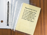 Legal Size Sheet Protectors