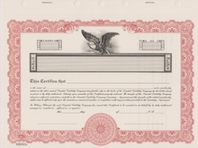 LLC Stock Certificates