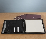 Napa Leather Timeline Padfolio with Refills