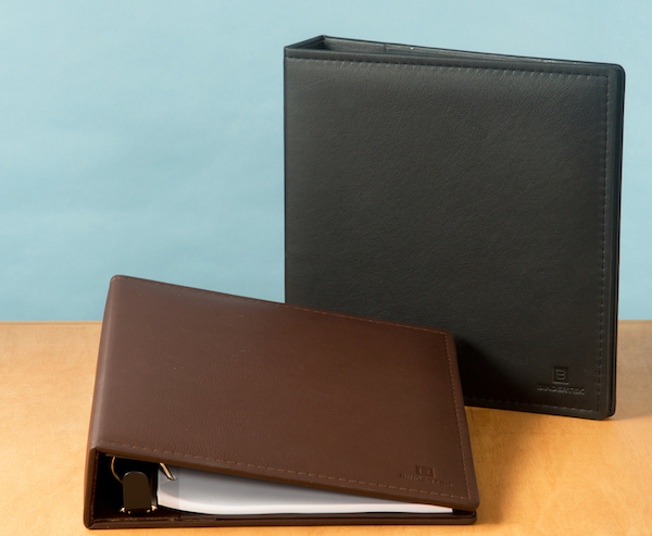 One Touch 3 Ring Leather Binder