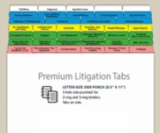 Premium Litigation Tab Set Organizer