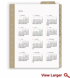 Russell+Hazel Mini Smartdate Monthly Tabs 2014