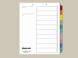 Top Punch Tabs: Multicolor Numeric Index Tabs 1-10 Set