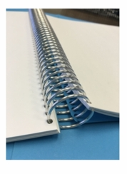 "Metal Spiral Coil Supply - 1/4"" or 6mm  - Binds to 31 sheets."