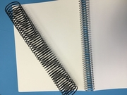 """Wire Spiral Coil Supply - 1/2"""" or 13mm - Binds to 90 sheets."""