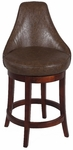 0290 30'' Swivel Solid Birch Bar Stool in Wenge Bonded Leather [0290-BS-FS-CTY]