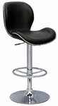 0315 Pneumatic Gas Lift Height Swivel Stool in Black Polyurethane [0315-AS-FS-CTY]