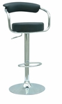 0326 Pneumatic Gas Lift Adjustable Height Swivel Stool in Black Vinyl [0326-AS-BLK-FS-CTY]