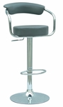 0326 Pneumatic Gas Lift Adjustable Height Swivel Stool in Dark Grey Vinyl [0326-AS-GRY-FS-CTY]