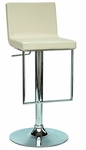 0351 Pneumatic Gas Lift Adjustable Height Swivel Stool in Creme Polyurethane [0351-AS-CRM-FS-CTY]