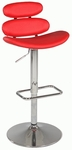 0642 Pneumatic Gas Lift Swivel Height Stool in Red Polyurethane [0642-AS-RED-FS-CTY]