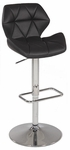 0645 Pneumatic Gas Lift Swivel Height Stool in Black Polyurethane [0645-AS-BLK-FS-CTY]