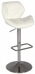 0645 Pneumatic Gas Lift Swivel Height Stool in White Polyurethane [0645-AS-WHT-FS-CTY]