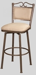 0707 30'' Memory Return Swivel Bar Stool in Taupe Suede [0707-BS-FS-CTY]