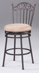 0710 30'' Memory Return Swivel Bar Stool in Taupe Suede [0710-BS-FS-CTY]