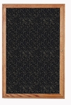 1-Door Walnut Wood Frame Enclosure Recycled Rubber Tackboard - Tan Speck [PN12418TR-TN-GHE]