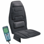 10-Motor Massage Seat Cushion with Heat - Black [60-2910-FS-COM]