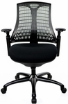 10 Series Mid Back Office Chair - Black [10M-BBBF-BF-FS-ATO]