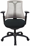 10 Series Mid Back Office Chair - Grey [10M-GBBF-BF-FS-ATO]