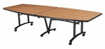 10' x 48'' Boat Shape Boardroom Conference Table [TLH41FXX02CS-SICO]