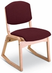 100 Series 2-Position Wood Frame Armless Guest Chair with Sled Base and Upholstered Seat [TP120-IFK]