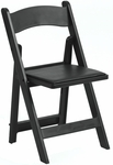 1000 lb. Max Black Resin Folding Chair [R101-RESIN-BLACK-CSP]