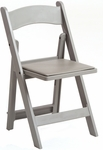1000 lb. Max Flint Gray Resin Folding Chair [R101-RESIN-FLINT-GRAY-CSP]