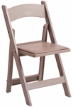 1000 lb. Max Sand Beige Resin Folding Chair [R101-RESIN-SAND-BEIGE-CSP]