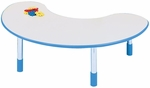 1000 Series Fixed Height Kidney Activity Table - 30''W x 72''D x 14''H [9144R-TOT]