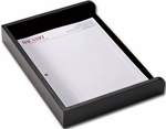 Classic Leather Single Side Load Letter Sized Tray - Black [A1068-FS-DAC]