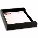 1000 Series Classic Leather - Black Leather Single Side-Load Letter-Sized Tray [A1068-FS-DAC]