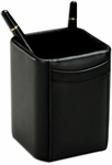 Classic Leather Pencil Cup - Black [A1010-FS-DAC]