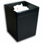 1000 Series Classic Leather - Square Waste Basket [A1003-FS-DAC]