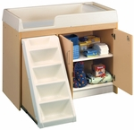 1000 Series 37''H Locking Cabinet Walk Up Toddler Changing Table [8534A-TOT]