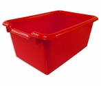 Versatile Scoop Front Plastic Storage Bins - Red - 11.5''W x 8''D x 5''H