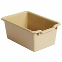 Versatile Scoop Front Plastic Storage Bins - Sand Colored - 11.5''W x 8''D x 5''H