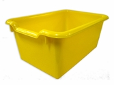 Versatile Scoop Front Plastic Storage Bins - Yellow - 11.5''W x 8''D x 5''H