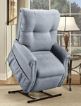 Economy Model Two Way Reclining Power Lift Chair with Magazine Pocket - Dawson Blue Fabric [1155DB-FS-MEDL]